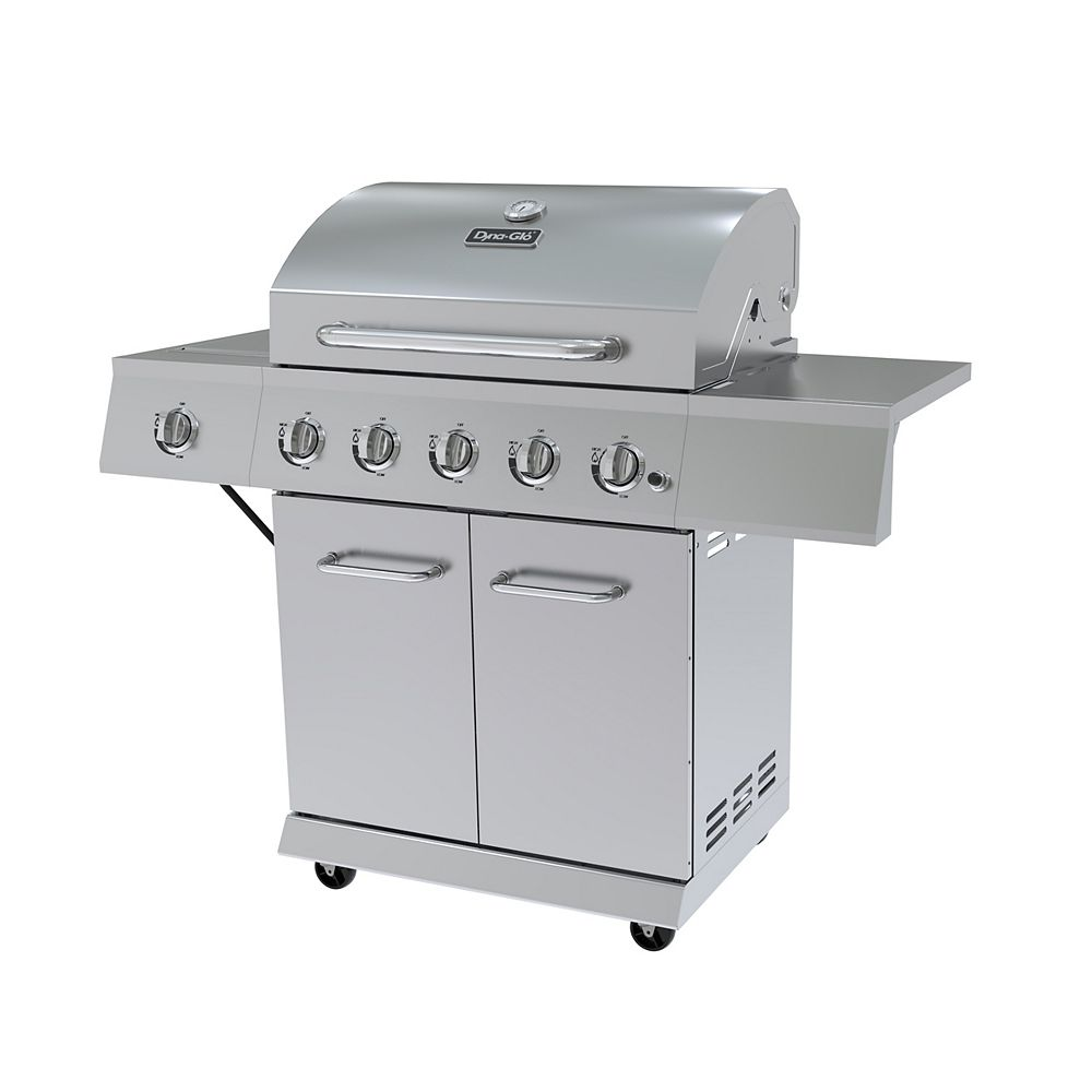 Dyna-Glo 5-Burner Propane BBQ in Stainless Steel