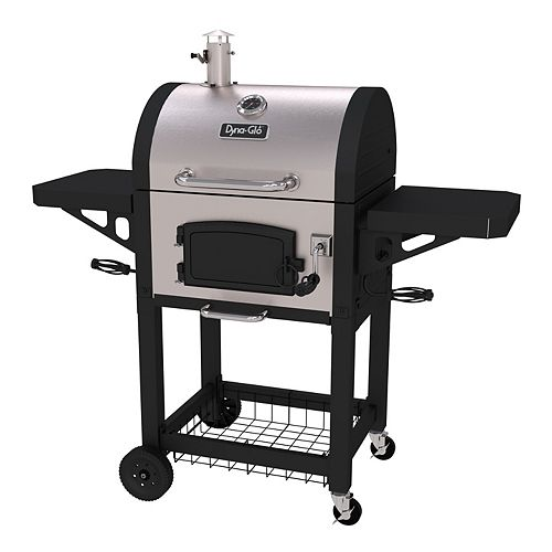 Dyna-Glo Heavy-Duty Charcoal BBQ in Black and Stainless Steel