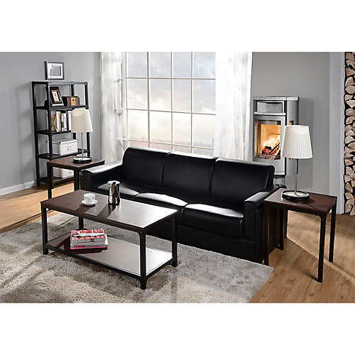 3-Piece Coffee Table & Side Table Set In Cherry