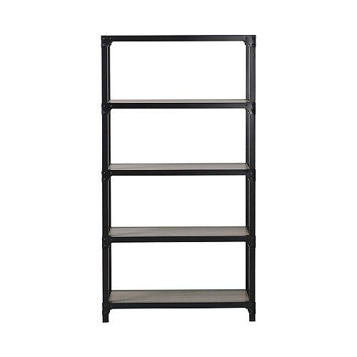 4-Shelf Mixed Materials Bookshelf In Reclaimed Wood
