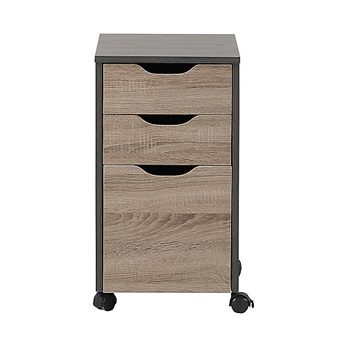 3-Drawer Filing Cabinet In Reclaimed Wood