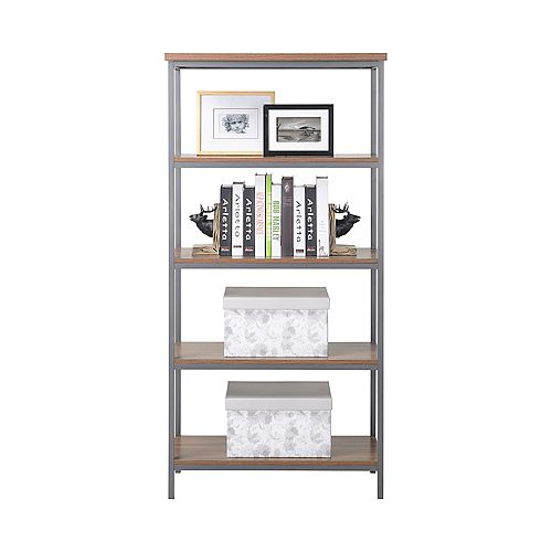 4-Shelf Bookcase in Natural Finish