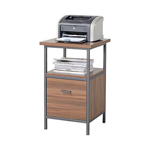 18-inch x 30-inch x 18-inch 1-Drawer Manufactured Wood Filing Cabinet in Brown