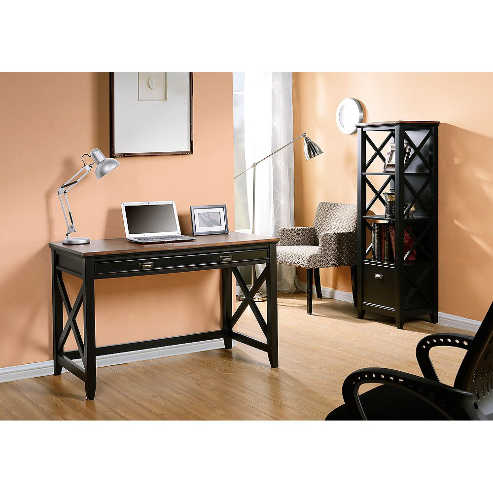 Homestar 47.24-inch x 30-inch x 23.19-inch Standard Workstation in Brown