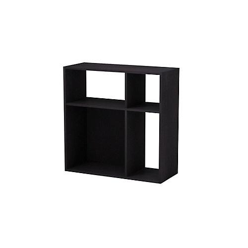 Asymmetrical 4-Cube Storage Organizer in Espresso