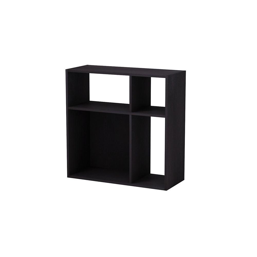 Homestar Asymmetrical 4-Cube Storage Organizer in Espresso