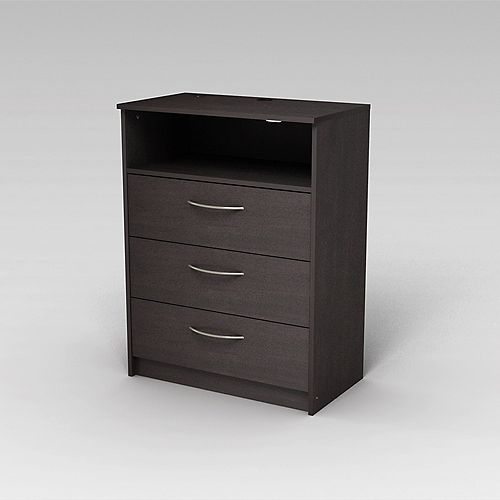 Finch 3 Drawer TV Chest, Espresso