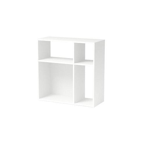 Asymmetrical Cube Storage, White