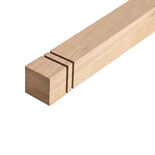 Pilastre carré en chêne 2-7/8 po x 2-7/8 po x 52 po
