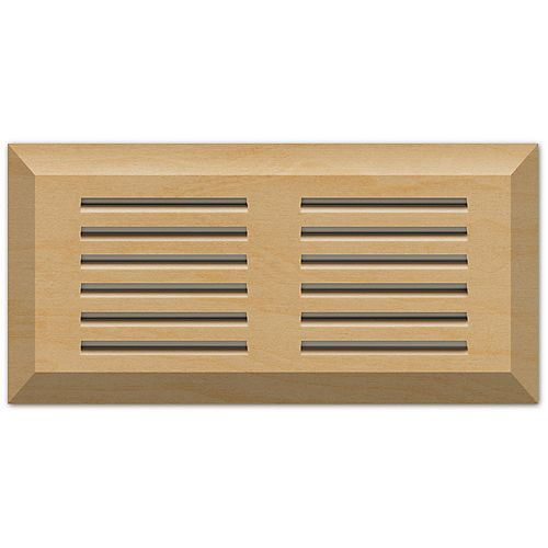 Maple natural 4 x 10 top mount vent