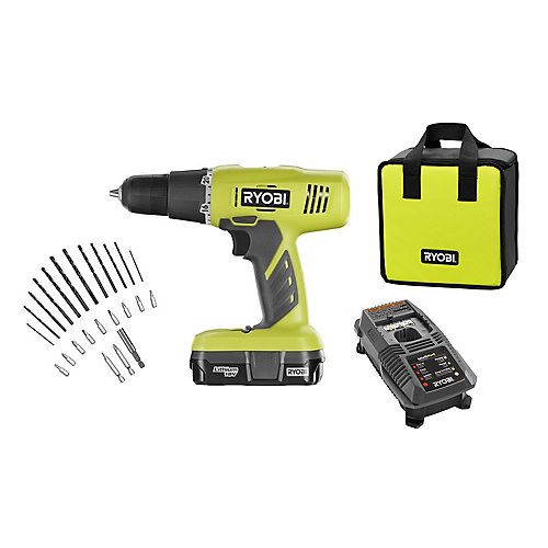 18V ONE+ Lithium-Ion 3/8-inch Cordless Drill Kit with 24-Piece Drilling and Driving Set