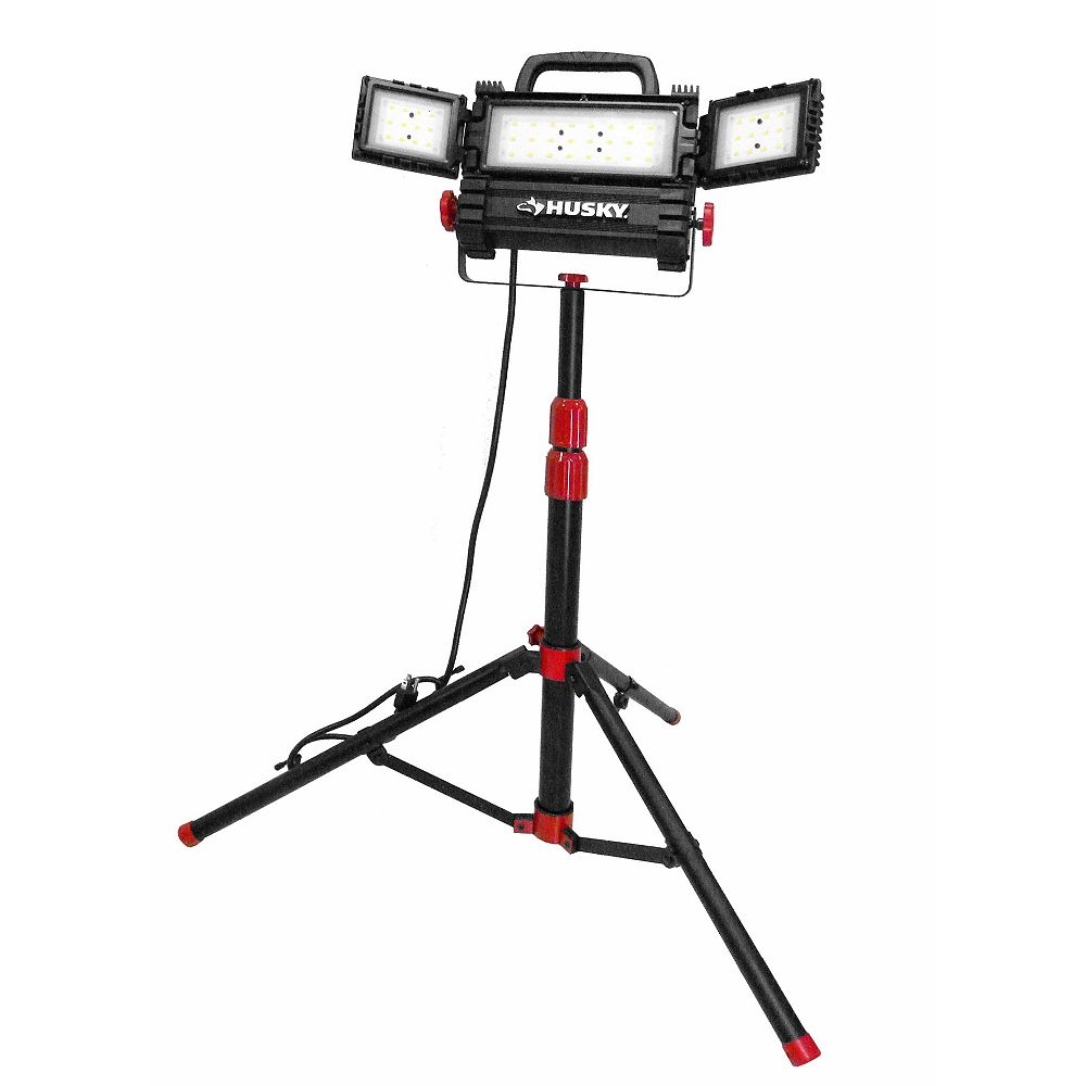 Husky 3200-Lumens Multi-Directional LED Tripod Work Light