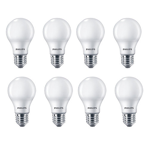 100W Equivalent Soft White (2700K) A19 LED Light Bulb (8-Pack)