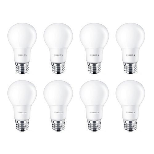 Philips 15W=100W Daylight A19 LED  Light Bulb (8-pack)