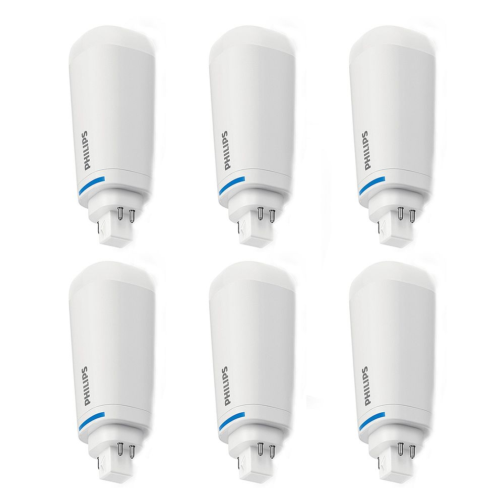 Philips 26w Cool White 4 Pin Plc T Led Light Bulb 6 Pack The Home Depot Canada