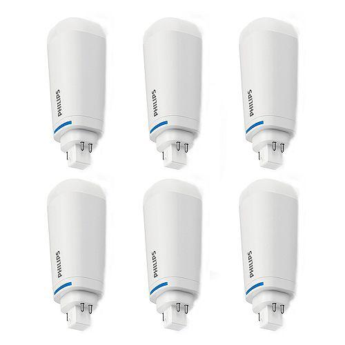 Philips Lampes DEL PL-C / PL-T InstantFit Philips 26W 4 broches / À la verticale Lumière blanc froid - Cas de 6 Ampoules
