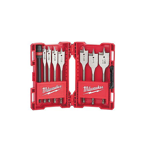 Milwaukee Tool High Speed Wood Spade Bit Set (8-Piece)