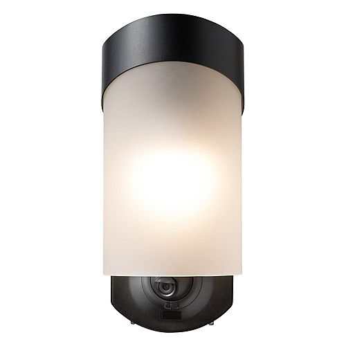 Contemporary Smart Security Light - Textured Black