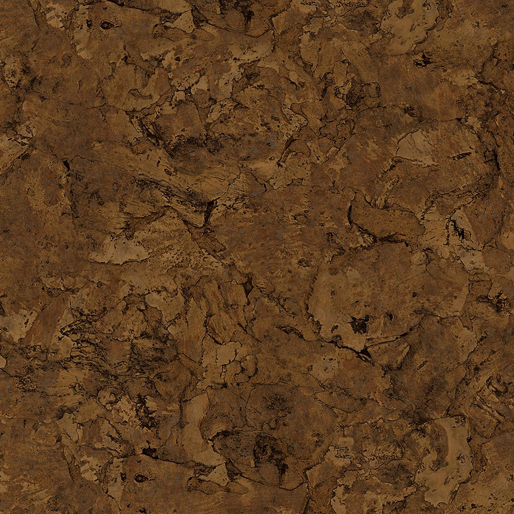 TrafficMASTER Lisbon Cork Dark 6-inch x 36-inch Luxury Vinyl Plank Flooring (24 sq. ft. / case)