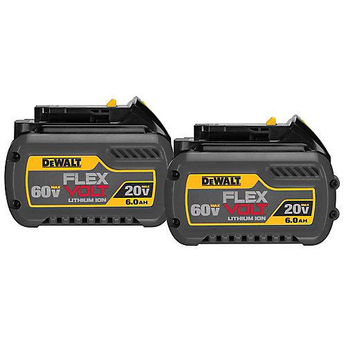 FLEXVOLT DCB606-2 20V/60V MAX  FLEXVOLT Lithium Ion 6.0 Ah Battery (2 Pack)