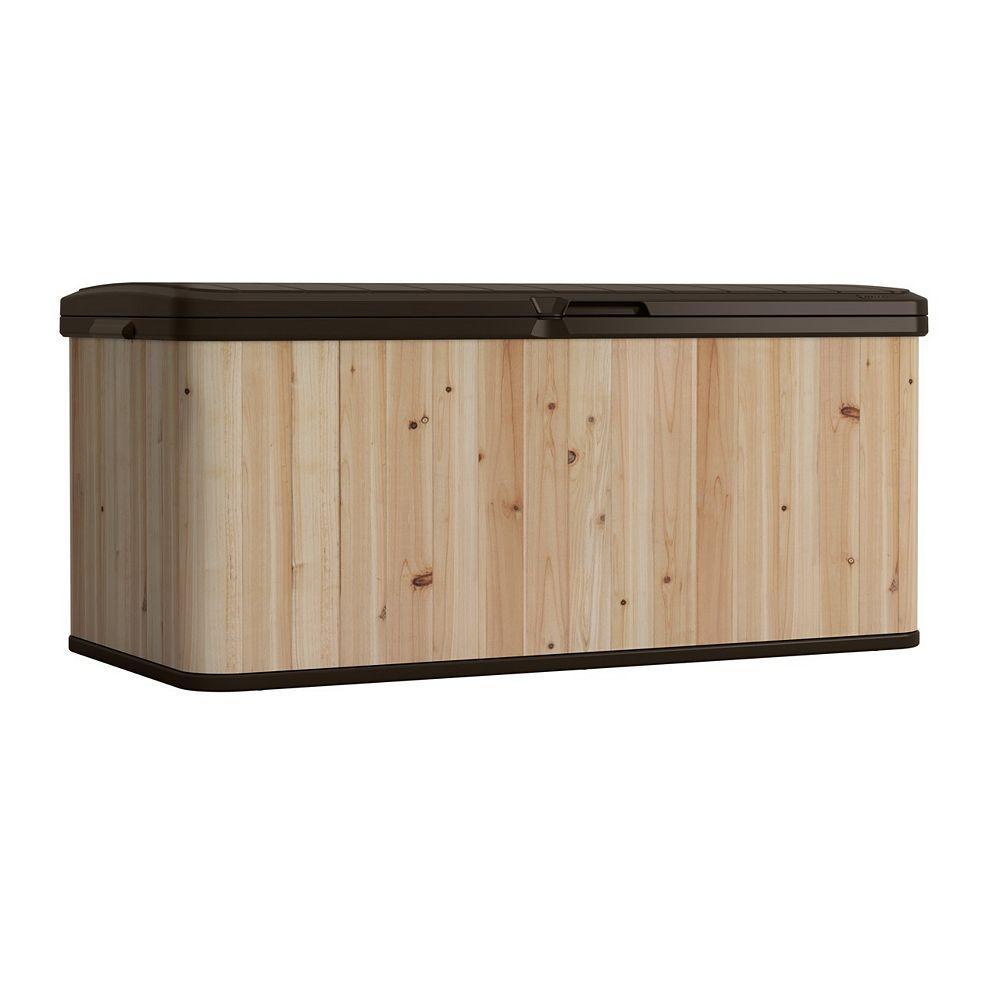 Suncast 16 cu. ft. Cedar and Resin Deck Box
