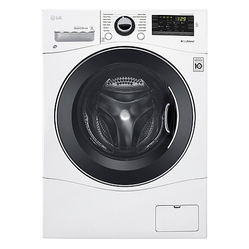 LG Electronics 24-inch 2.6 cu. ft. Compact Front Load Washer in White, Stackable - ENERGY STAR®