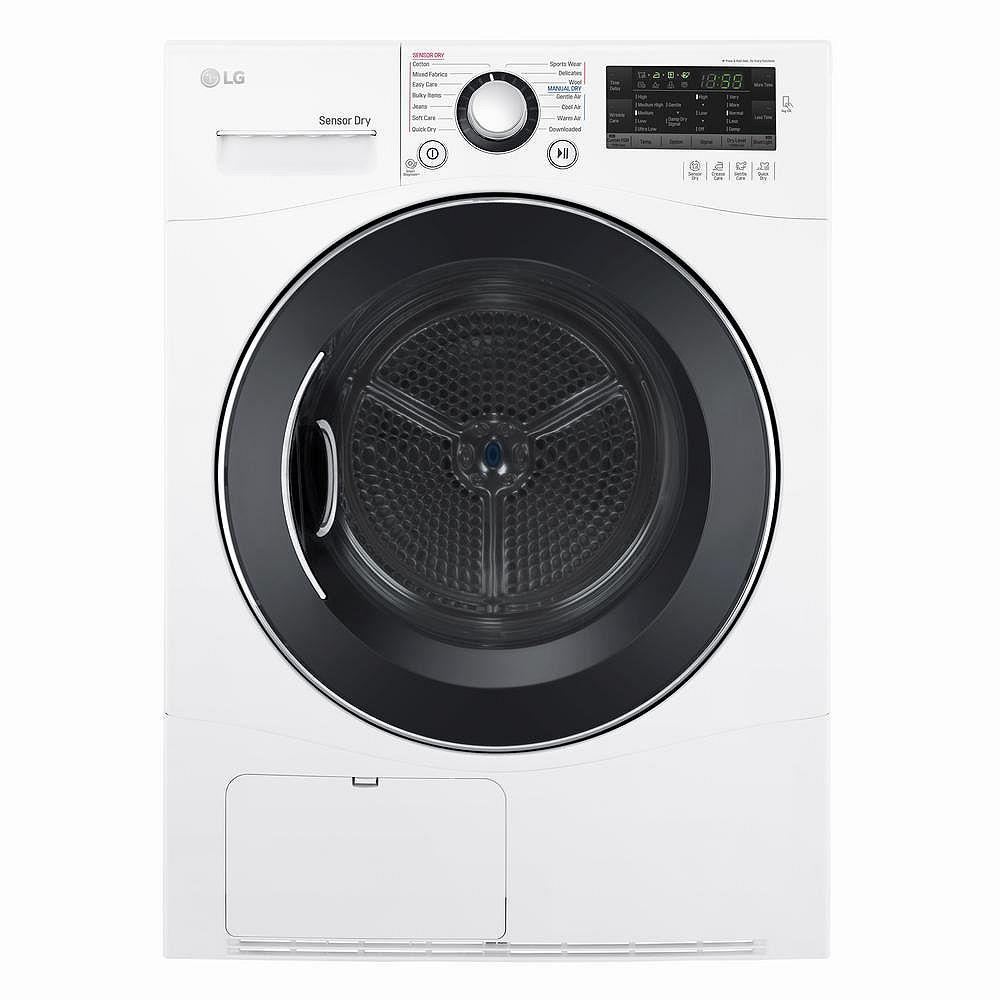 LG Electronics Séchoir électrique compact sans ventilateur de 4,2 pi3 en blanc, empilable