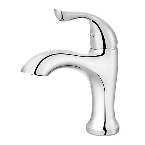 Elden Single Hole 1-Handle Low Arc Bathroom Faucet in Chrome with Lever Handle