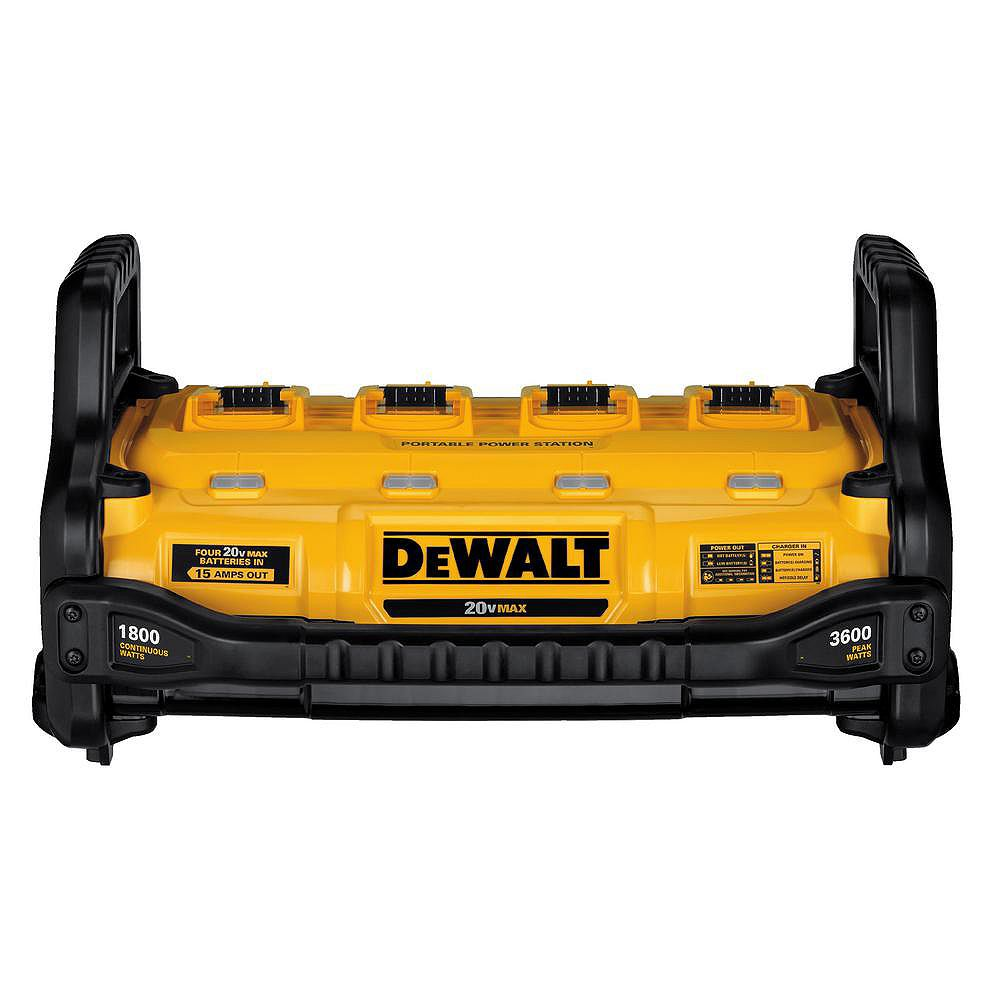 DEWALT 1800 Watt Portable Power Station and 20V/60V MAX Lithium-Ion Battery Charger