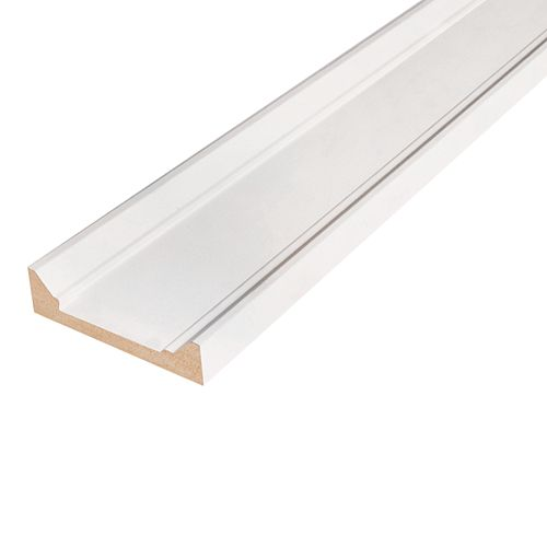 Alexandria Moulding 1-inch x 4 1/2-inch x 96-inch Modern MDF Primed Boston Header/Architrave Moulding