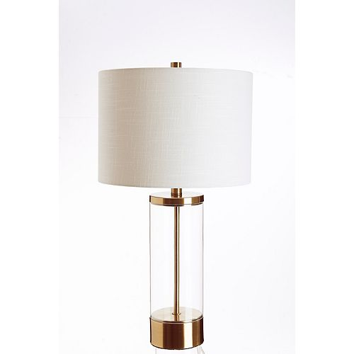 Home Decorators Collection 26 Inch Antique gold column table lamp