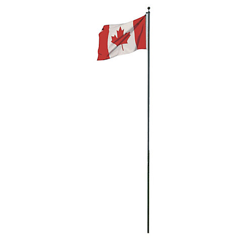 20 ft. Sectional Aluminum Flagpole with Canadian Flag