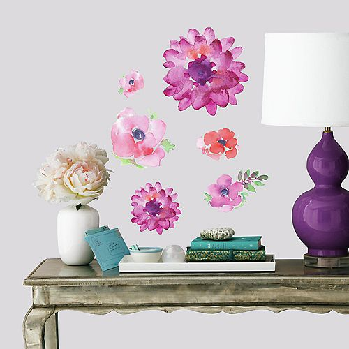 KD Watercolour Blooms Wall Decals