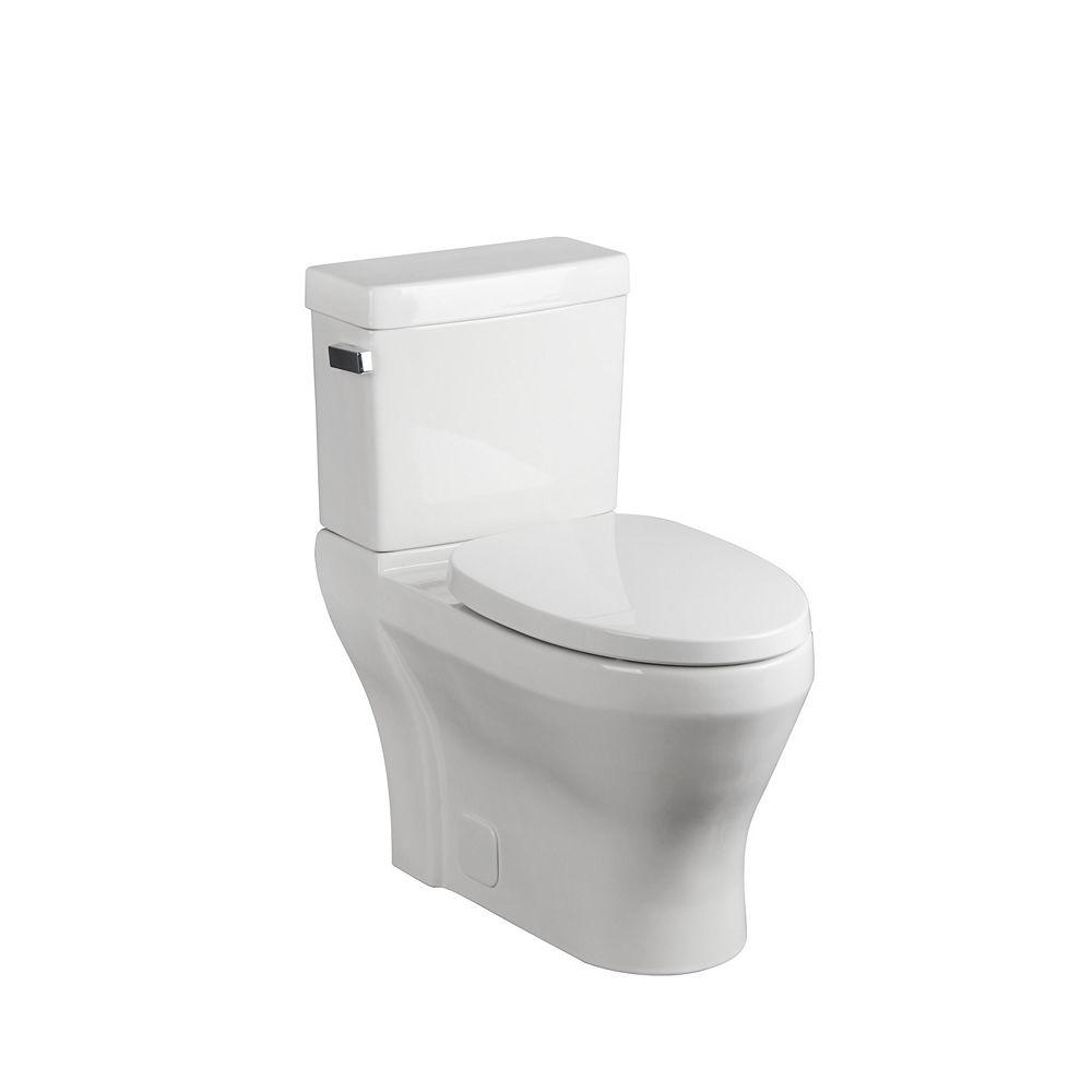 Glacier Bay Toilette allongée, 2 pièces, 4,8 L, blanc