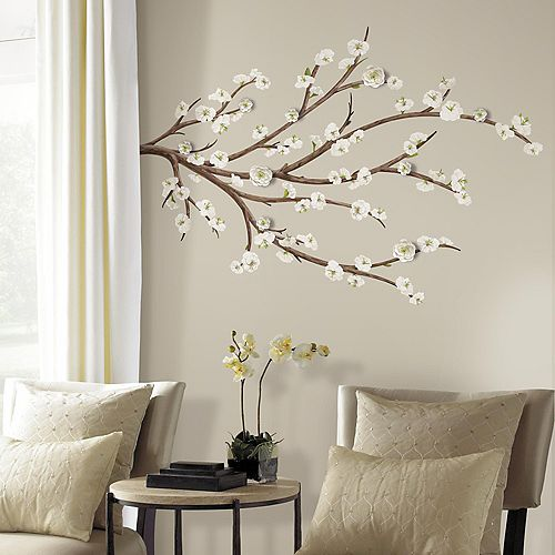 RoomMates Stickers Muraux FLOWERING BRANCH W/CRAFT FLOWER