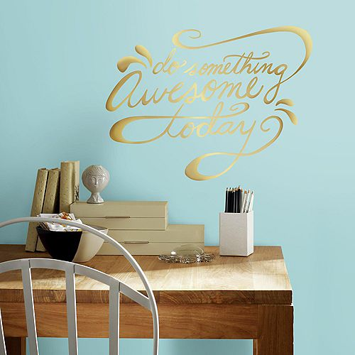 RoomMates Stickers Muraux DO SOMETHING AWESOME GOLD