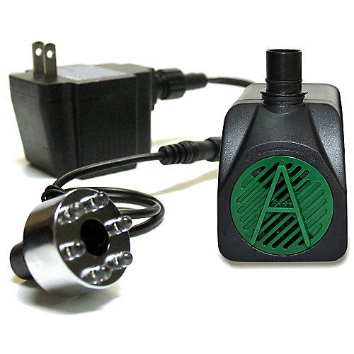 Pompe de 340 LPH avec lumière d'appoint DEL.