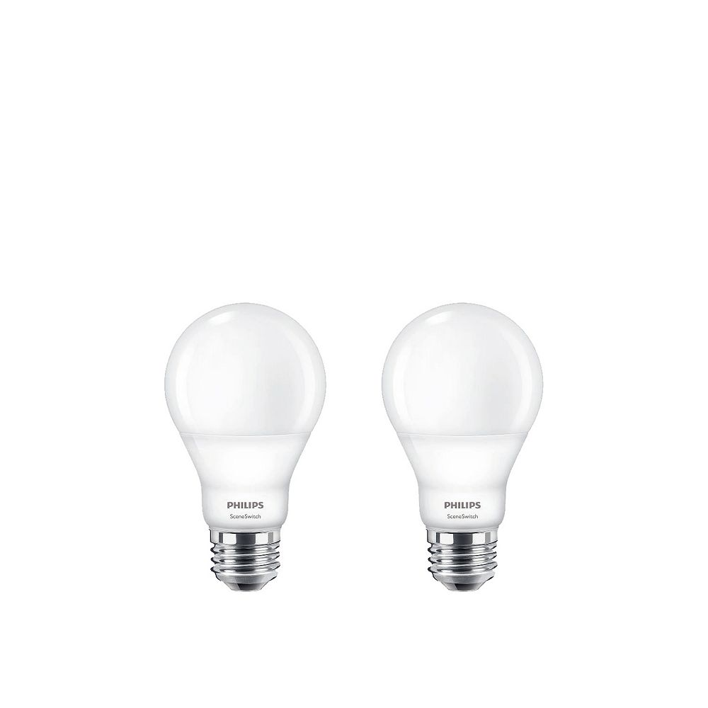 Philips LED 60W A19 SceneSwitch Colour (2200K, 2700K, 5000K) - ENERGY STAR®