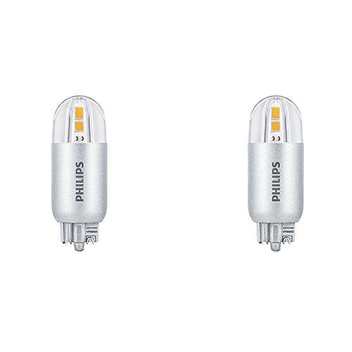 Philips Ampoule DEL de type capsule à culot poussoir T5, 18 W, 3 000 K, blanc brillant, ens. de 2