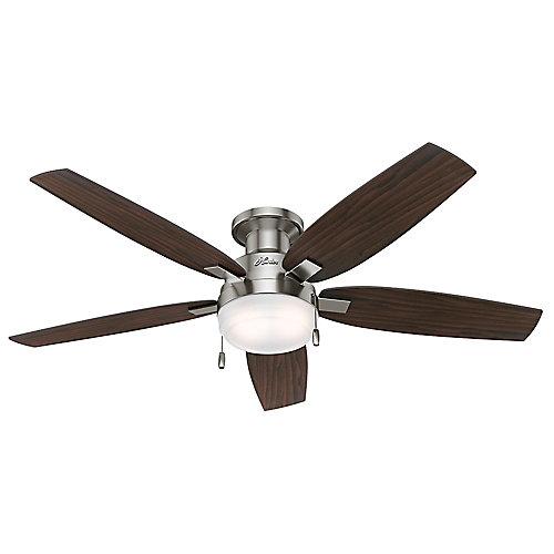 Ventilateur de plafond intérieur Duncan, 52 po, nickel brossé