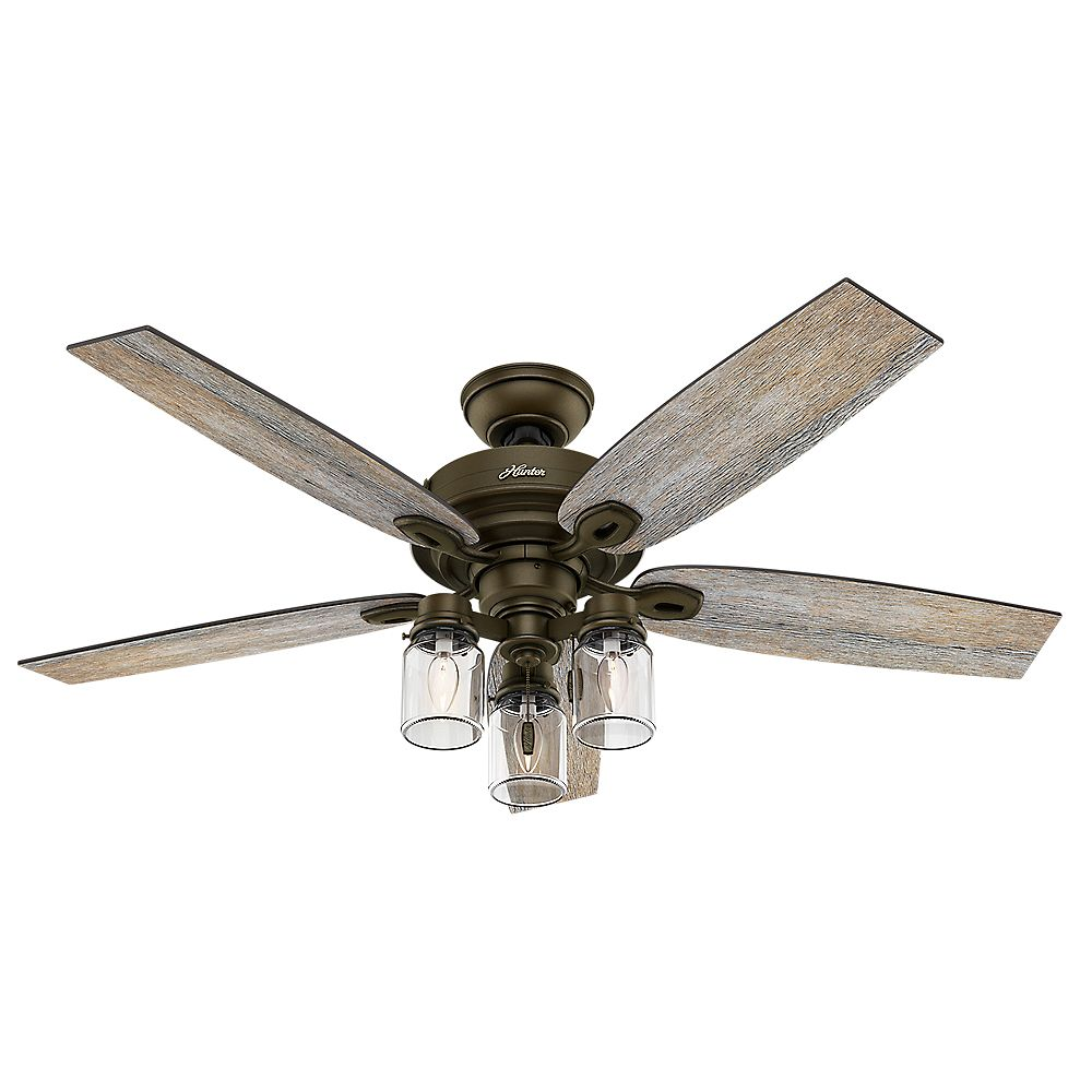 Hunter Crown Canyon 52-inch Indoor Regal Bronze Ceiling Fan