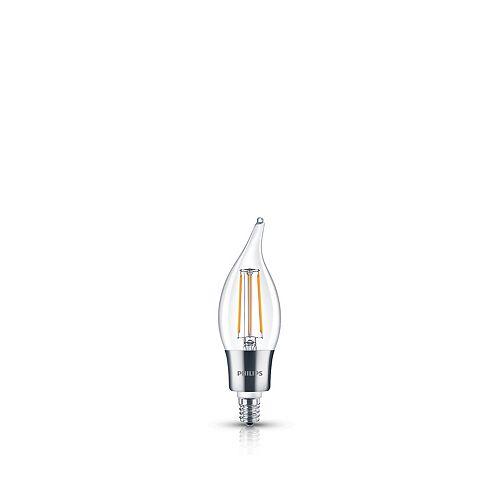 Philips DEL 40W Lampe Flamme BA11 Vintage Filament Claire (2 200 K)