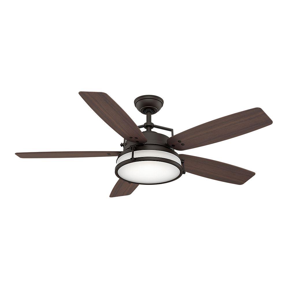 Casablanca Casablanca Caneel Bay 56 Inch  Maiden Bronze Indoor/Outdoor Ceiling Fan with 4 speed wall control mount