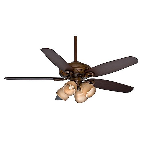 Capistrano Gallery 52-inch Indoor Acadia Ceiling Fan with 4-Speed Wall Mount Control
