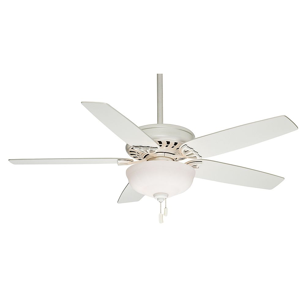 Casablanca Concentra Gallery 54-inch Indoor Snow White Ceiling Fan with Light