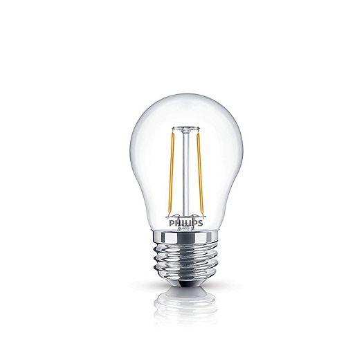 Philips 25W Equivalent Clear (2200K) A15 Filament LED Light Bulb