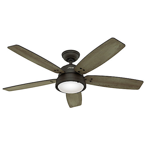 Channelside 52-inch LED Outdoor Noble Bronze Ceiling Fan