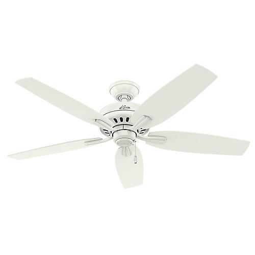 Hunter Newsome 52po Blanc Ventilateur de plafond sans éclairage