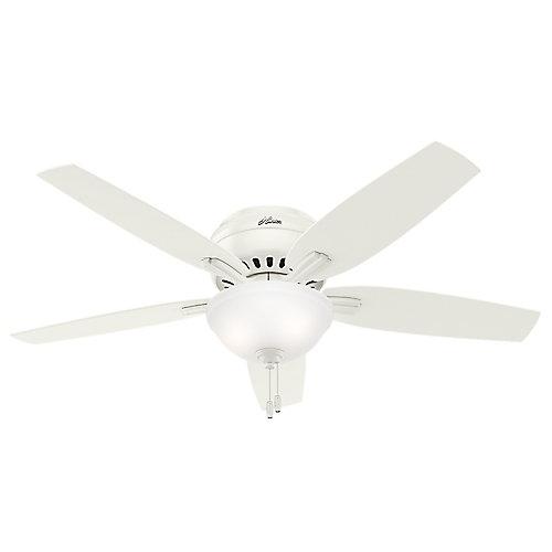 Hunter Newsome 52po Montage bas Blanc Ventilateur de plafond