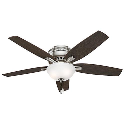Ventilateur de plafond 52 pouces à profil bas Newsome Nickle brossé de 52 pouces